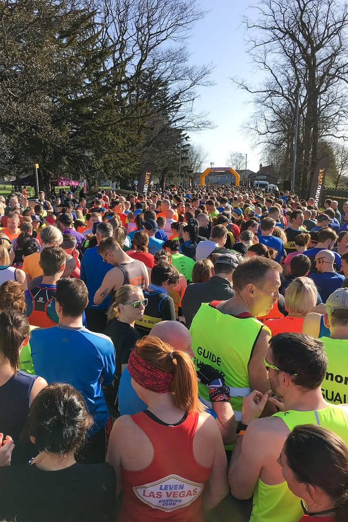 Runners awaiting the start of the race